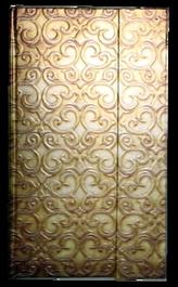 Zápisník s magnetickou klopou 100x180 mm zlatý ornament