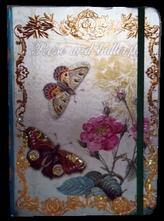 Zápisník s gumičkou A5 145x210 mm růže a motýli