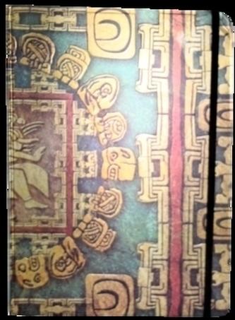 Zápisník s gumičkou A4 210x290 mm mayské ornamenty