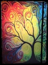 Zápisník s gumičkou A4 210x290 mm barevný strom