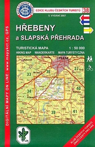 Hřebeny a Slapská přehrada (38) - turistická mapa