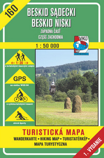 Beskid Sadecki Beskid Niski Západná časť 1:50 000