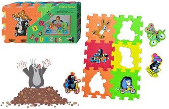 Krtek - Pěnové puzzle 15x15 6ks/3 motivy