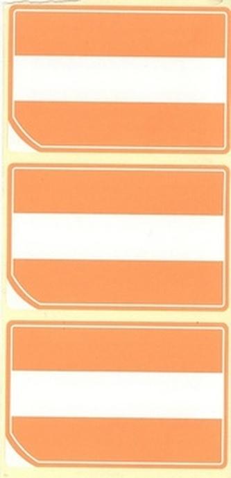 Akční ETIKETA 66 x 43, oranžová