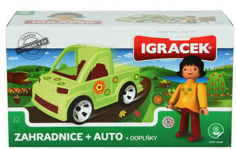IGRÁČEK - Zahradnice + auto + doplňky