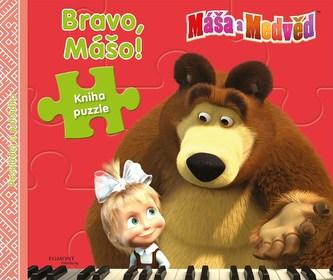 Máša a Medvěd Bravo Mášo! Kniha puzzle