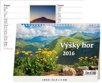 Výšky hor 2016 - stolní kalendář