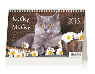 Kočky/Mačky 2016 - stolní kalendář