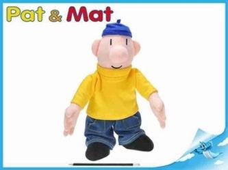 Postavička Pat plyš 37cm 0m+ v sáčku Pat a Mat
