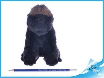 Gorila plyšová NURU 17cm sedící
