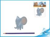 Nejmenší slon na světě - postavička Bedříšek slon 7,5cmv sáčku