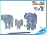 Nejmenší slon na světě - postavičky máma, táta, Bedříšek 7,5-14cm v sáčku