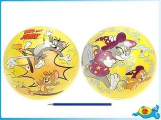 T&J Míč 23cm Tom a Jerry v síťce žlutý