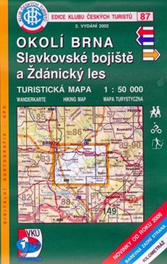 Okolí Brna, Slavkovské bojiště a Ždánický les - Turistická mapa - edice Klub českých turistů 87