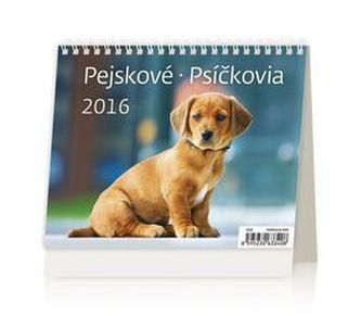 Pejskové/Psíčkovia 2016 - stolní kalendář