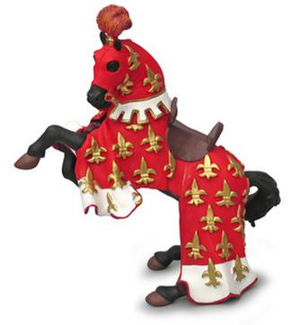 Kůň prince Filipa červený