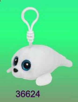 Plyš očka přívěšek bílý tuleň