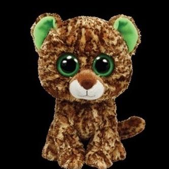 Plyš očka střední leopard