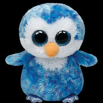Plyš očka střední tučňák modrý