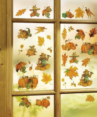 Dekorace na okna Podzim, 50 ks