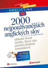 2000 nejpoužívanějších anglických slov + verze 1 CD v MP3 formátu