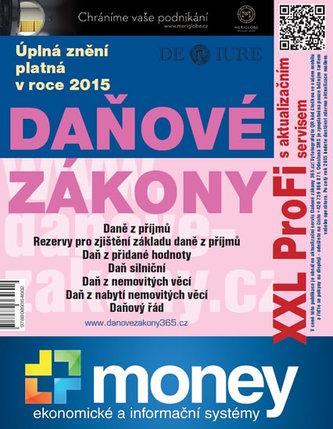 Daňové zákony 2015 XXL ProFi - Komplet tištěné publikace s úplnými zněními daňových zákonů platnými v roce 2015 s e-bookem a pravidelným aktualizačním servisem