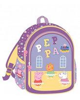 Školní taška s potiskem Prasátko Peppa - fialová