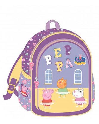Školní taška s potiskem Prasátko Peppa - fialová - neuveden