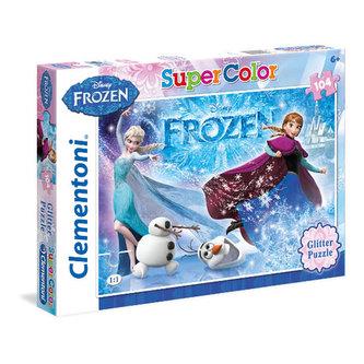 Puzzle Ledové království Supercolor - 104 Glitter/Frozen