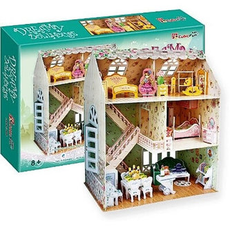 "Puzzle 3D Domek ""SNŮ"" pro panenky - 160 dílků - neuveden"