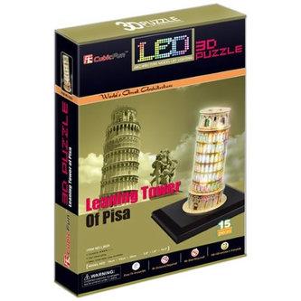 Puzzle 3D Šikmá věž / led - 15 dílků