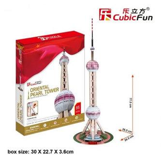 Puzzle 3D TV věž Oriental Pearl - 85 dílků