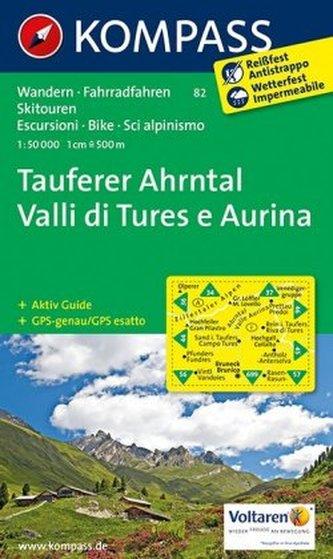 Kompass Karte Tauferer Ahrntal. Valle di Tures e Aurina