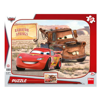 Auta: Blesk & Burák - puzzle 12 dílků