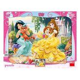 Princezny & mazlíčci - puzzle 12 dílků