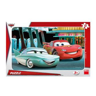 Auta: U pumpy - puzzle 15 dílků