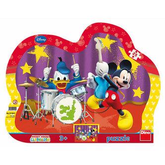 Mickeyho kapela - puzzle 25 dílků