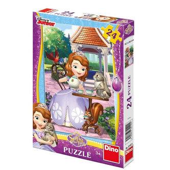 Sofia a zvířátka - puzzle 24 dílků