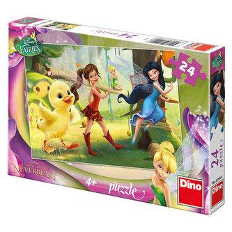 Fairies a kuřátko - puzzle 24 dílků