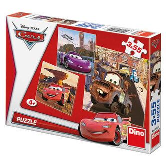 Auta: V akci - puzzle 3x55 dílků