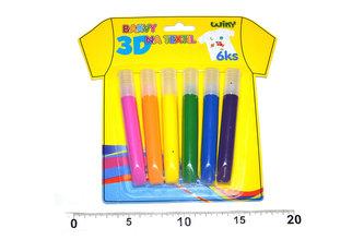 Barvy na textil 3D - 6ks - neuveden