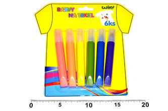 Barvy na textil neonové - 6ks