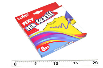 Fixy na textil - 8 ks - neuveden