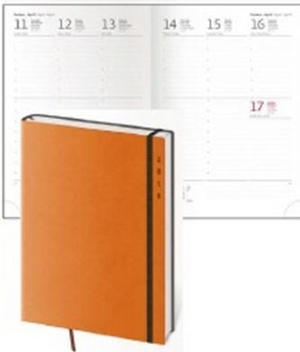 Diář 2016 - Flexies A5 týdenní - oranžová