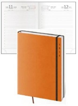 Diář 2016 - Flexies B6 denní - oranžová