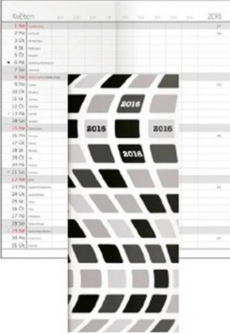 Diář 2016 - Napoli měsíční kapesní PVC - design 01