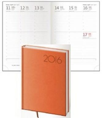 Diář 2016 - Print A5 týdenní - oranžová