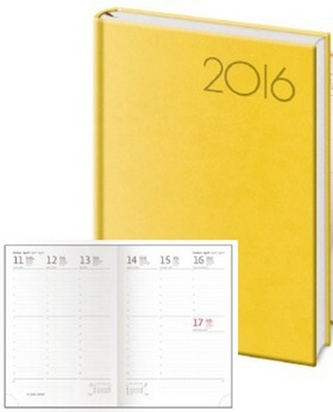 Diář 2016 - Print A5 týdenní - žlutá