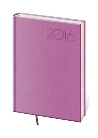 Diář 2016 - Print B6 denní - fialová