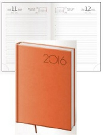 Diář 2016 - Print B6 denní - oranžová